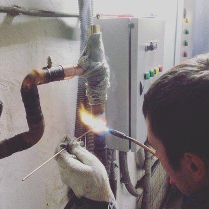 Пайка медных труб газовой горелкой