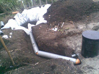 Прокладка канализационных труб