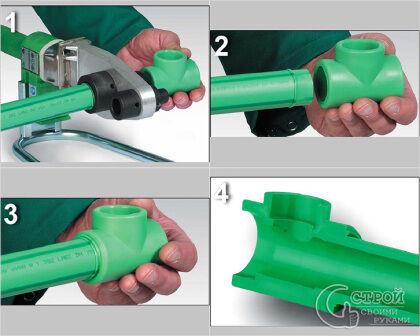 Процесс пайки полипропиленовых труб своими руками