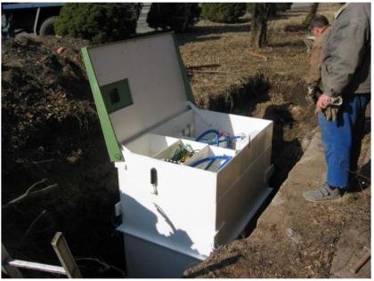 Процесс установки канализации