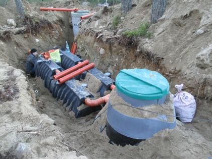 Технология установки  канализации «Rostok»