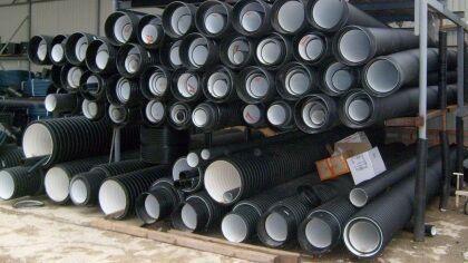 Трубы канализационные из полиэтилена гофрированные