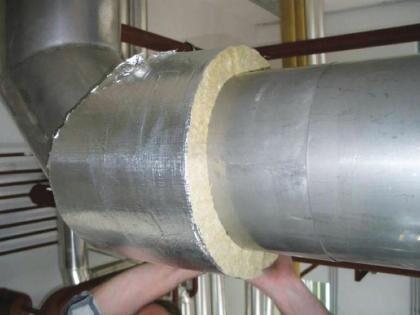 Утеплитель - базальтовая вата с фольгой