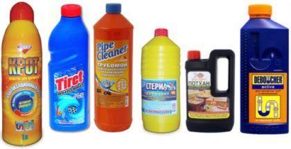 Чистящие средства для канализации