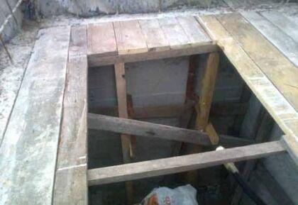 Деревянное перекрытие бетонного кессона