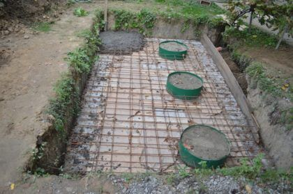 Заливка перекрытия бетоном