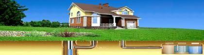 Установка канализации в загородном доме
