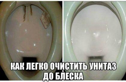 Как очистить унитаз от камня своими руками