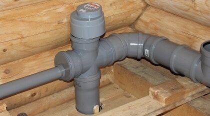 Пример установленного на стояк клапана