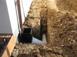 Соединение дожеприемника и подземных труб