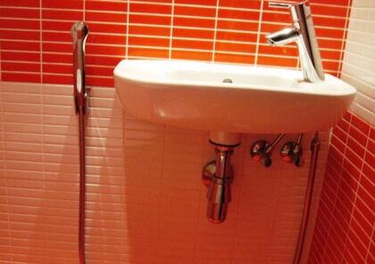 Универсальный душ, подключенный к смесителю