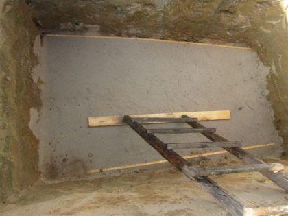 Цементная подушка на дне котлована