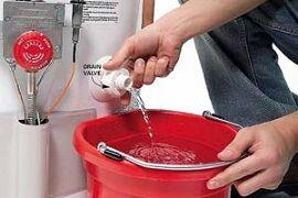 Как спустить воду с бойлера