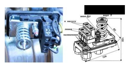 Блок автоматики насосной станции со снятой крышкой