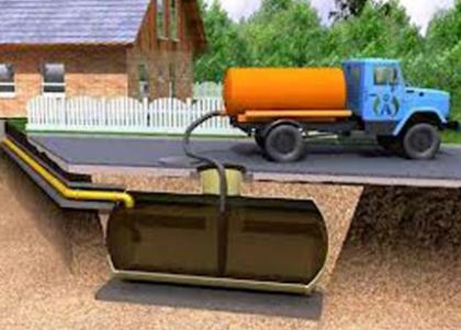 Емкость для перемещения откачанных стоков на автомобильном шасси