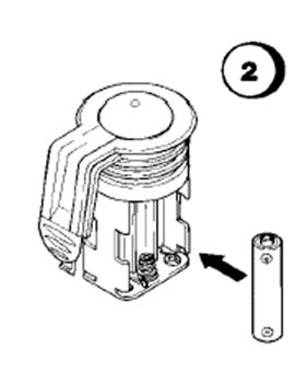 Замена элементов питания в отсеке для батареек