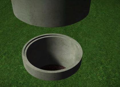 Устанавливается второе кольцо