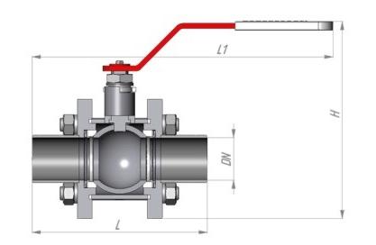 Латунный кран с шаровым механизмом