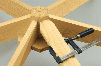 Оформление конструкции планками