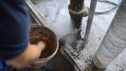 Охлаждение трубы