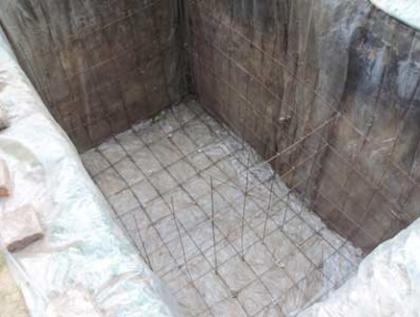 Формируем бетонное основание под установку септика