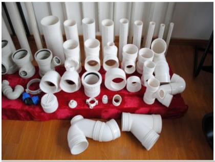 Ассортимент пластиковых труб для монтажа канализационных сетей