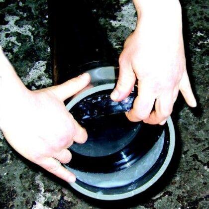 Резиновое кольцо в раструбе