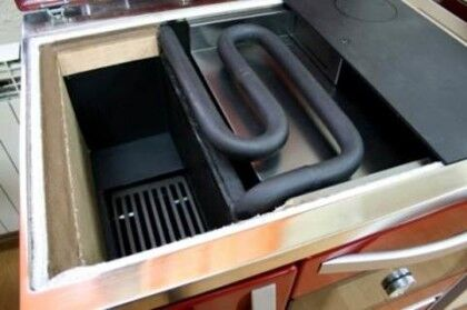 Варочная печь на дровах с водяным контуром