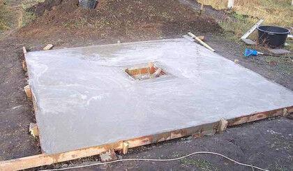 Перекрытие залито бетоном