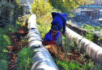 Подключение к центральным канализационным сетям