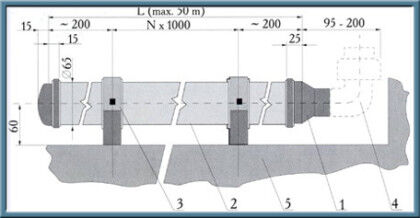 Монтажная схема трубчатого аэратора