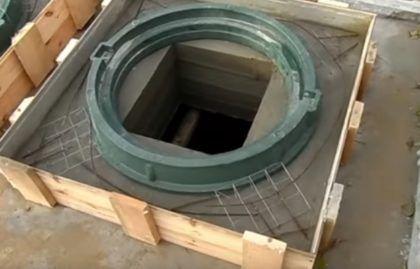 Армированная решетка вокруг люка