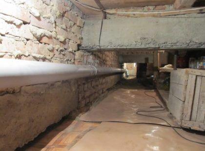 В здании используются «серые» канализационные трубы