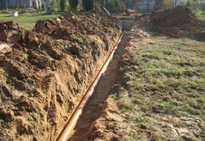 Прокладка наружных канализационных труб