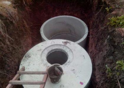 Процесс монтажа резервуаров септика из бетонных колец