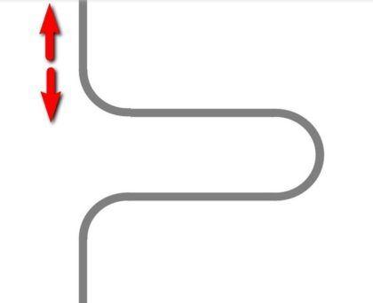 Схема прямого и наиболее простого подключения полотенцесушителя к стояку