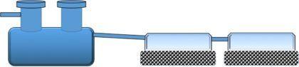 Схема септика с двумя инфильтраторами