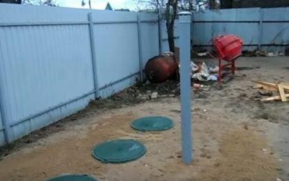 Трехкамерный монолитный бетонный септик готов