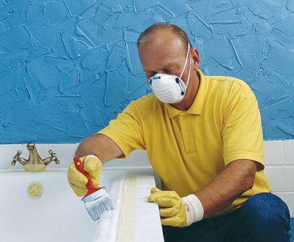 Во время работы используйте защитную маску и перчатки
