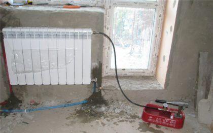 Заполнение отопительной системы теплоносителем