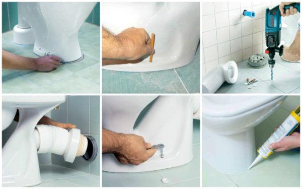 Как правильно установить унитаз в доме своими руками