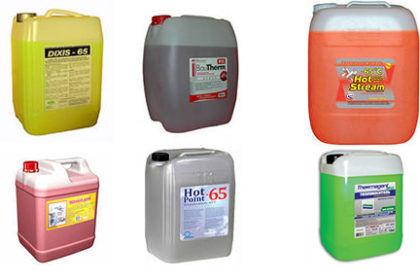 Незамерзающие теплоносители для систем отопления различных производителей