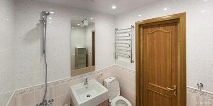 Отделку стен, пола и потолка в ванной нужно закончить заранее