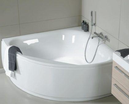 Пристенная угловая симметричная ванна