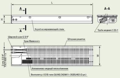 Схема конвектора
