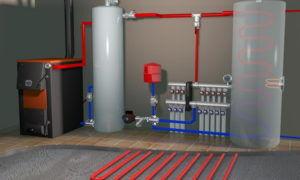 Объем теплоносителя в системе отопления