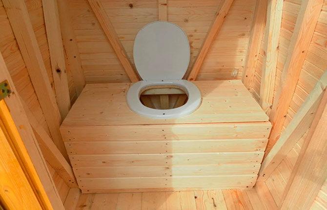 Уличный туалет внутри