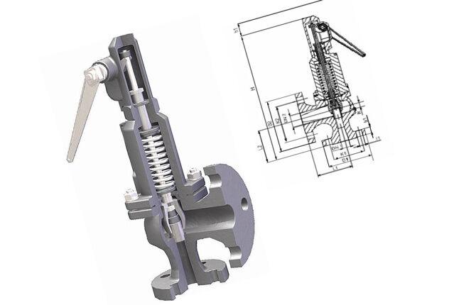 Пружинный предохранительный клапан системы отопления