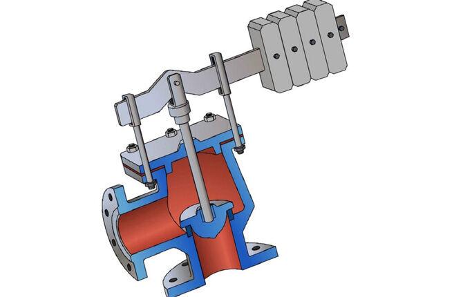 Предохранительный клапан системы отопления с рычажным механизмом прижима