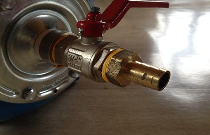 Подключение компрессора для продувки водопровода
